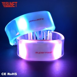 SUNJET Hot sale party supplies radio controlled LED rfid wristband-RFID Chip inserted