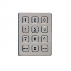 High Quality 12 keys 3*4 matrix stainless steel Vandal-resistant Acess Control Keypad