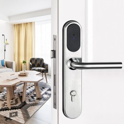 Europe Style Waterproof 304 Pure Stainless Steel Keyless Electronic RFID Card Hotel Room Door Lock with CE FCC Certificated